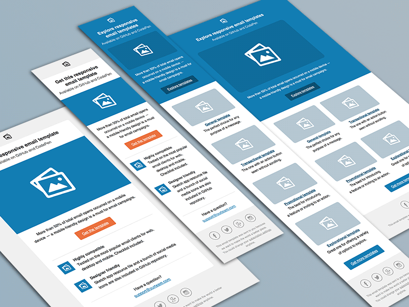 Email Templates for Sketch Freebie - Download Sketch Resource ...