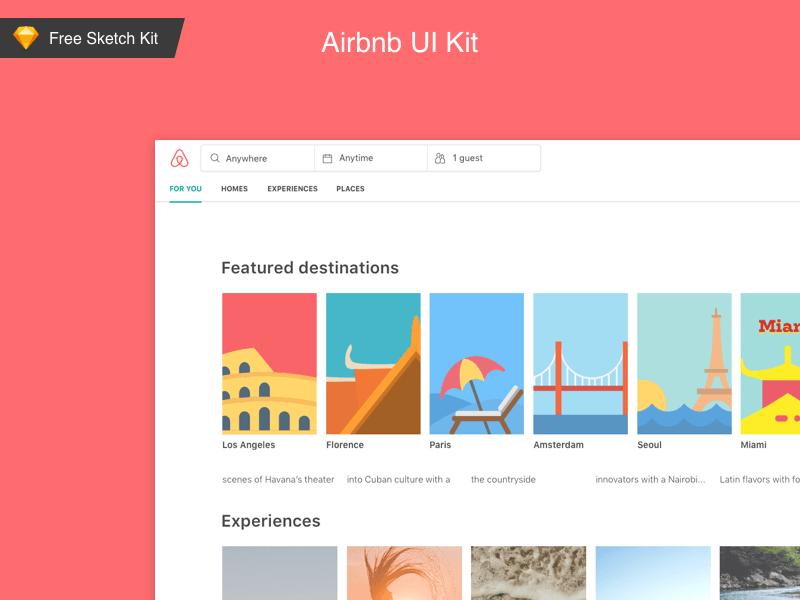 Airbnb Ui Kit Freebie Download Sketch Resource Sketch Repo