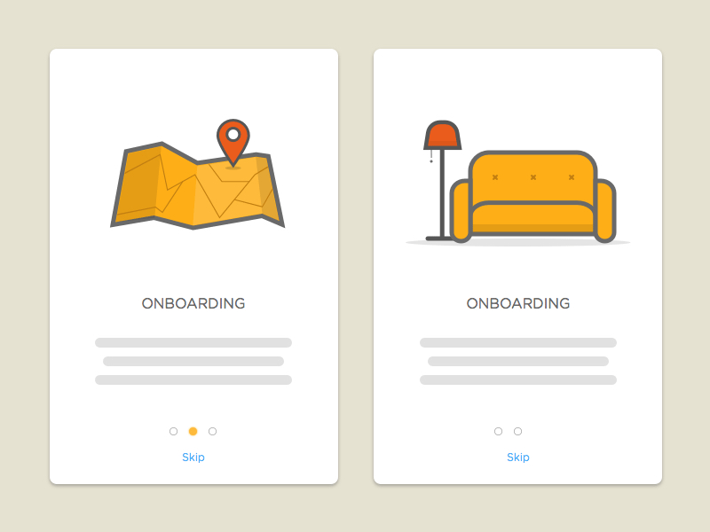 Onboarding Screens Freebie