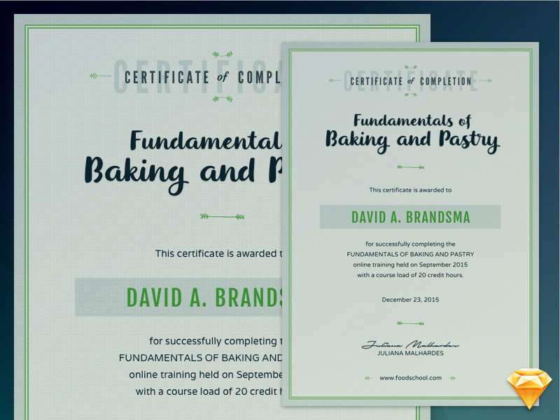 Course Certificate Template Freebie Download Sketch Resource