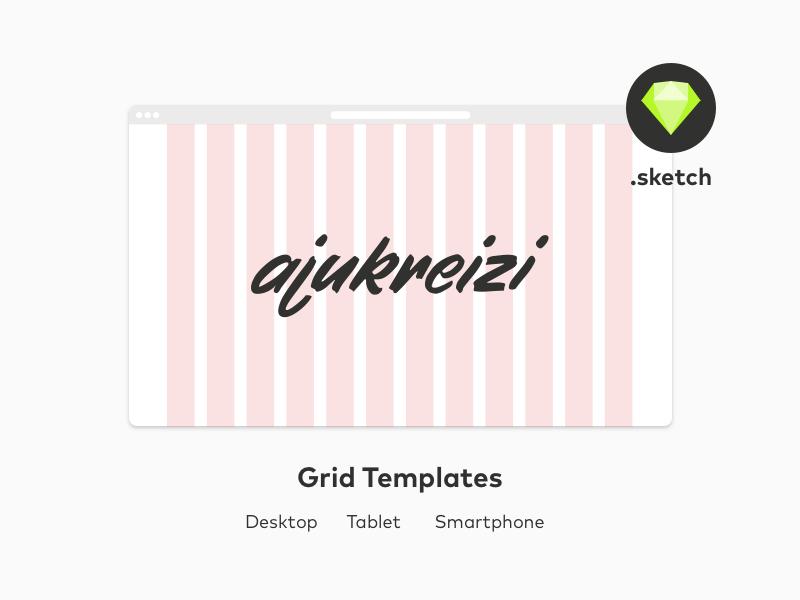 responsive grid template for sketch freebie download sketch