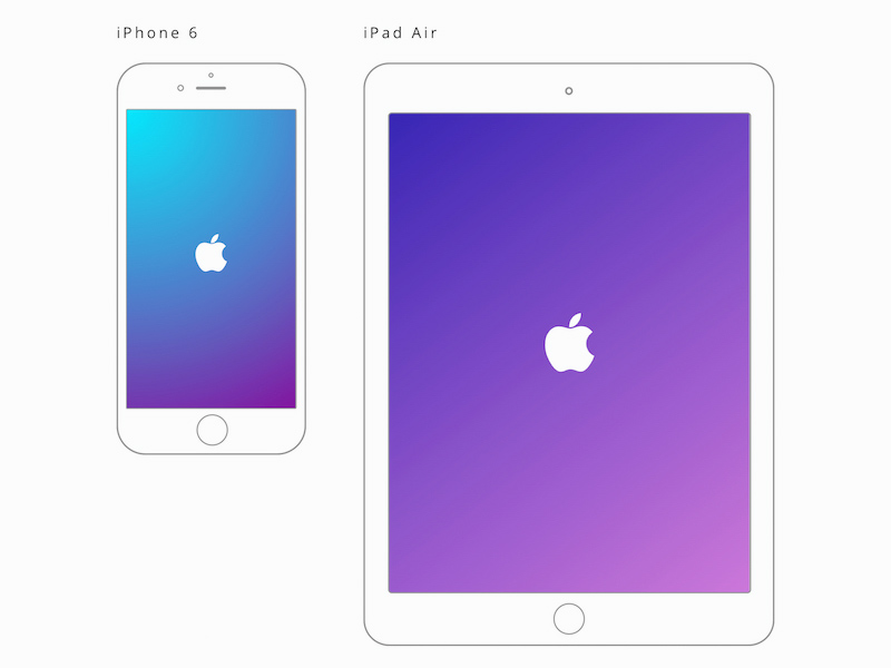 Apple IPad Air And IPhone 6 Mockups Freebie - Download Sketch Resource - Sketch Repo