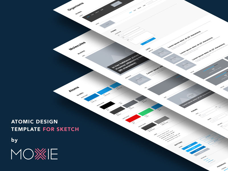 Atomic Design Template for Sketch