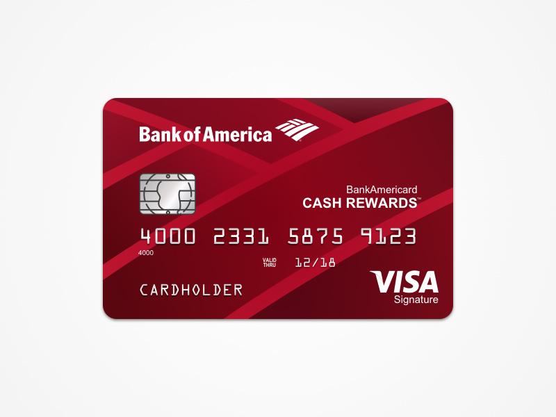 Bank Of America Cash Rewards Card Design