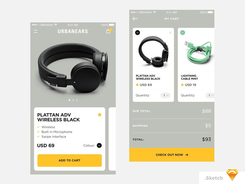 Urbanears App Concept