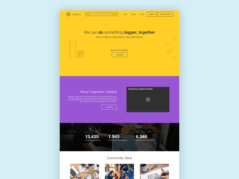 Website Landing Page Template Freebie Download Sketch Resource - Website landing page templates