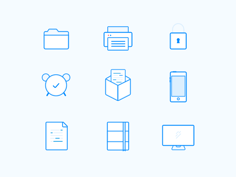 9 Outline Icons Freebie Download Sketch Resource