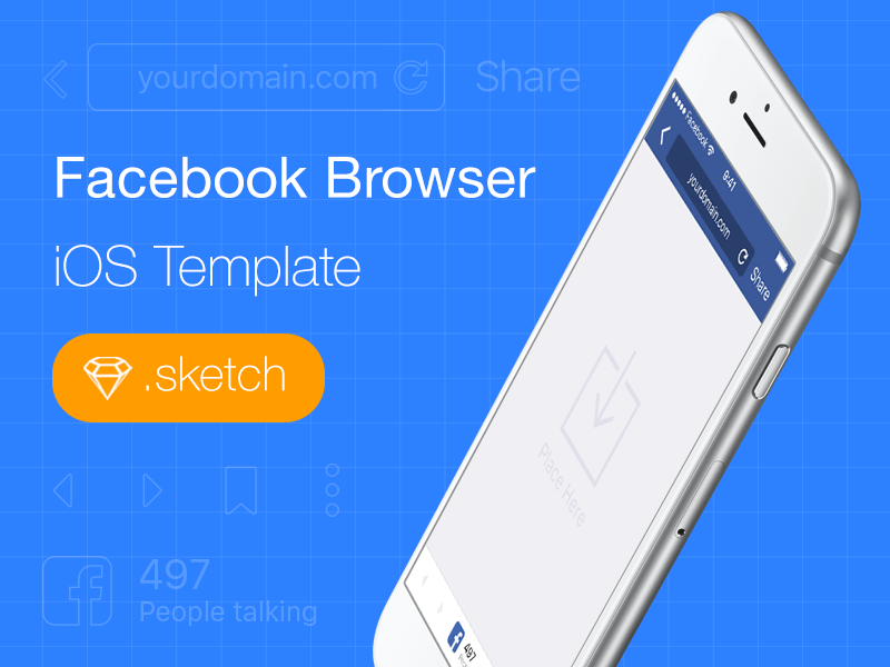 Ios Template | Facebook For Ios Browser Template Freebie Download Sketch Resource