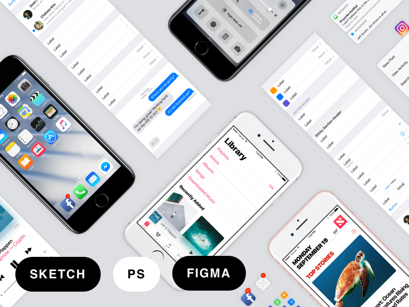 iOS 10 GUI by Facebook
