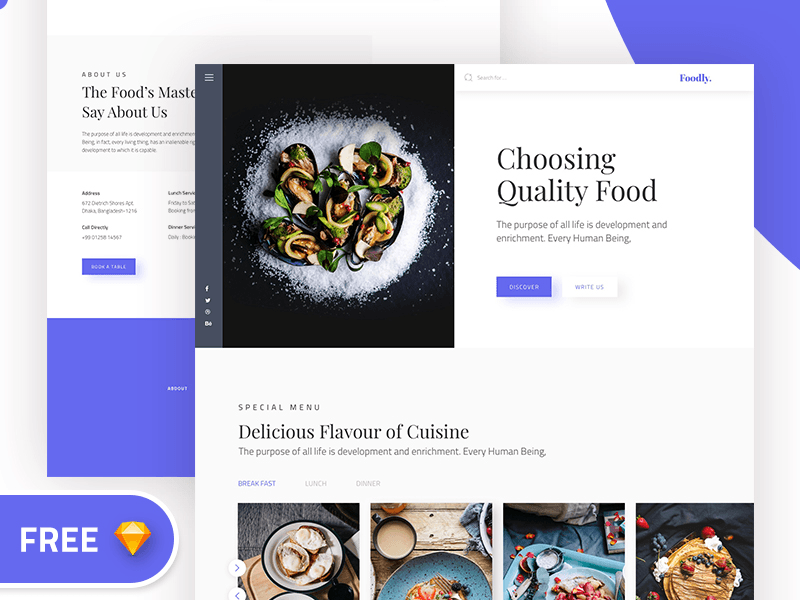 Foodly Restaurant Recipe Website Template