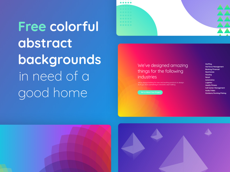 colorful abstract backgrounds made in sketch freebie download