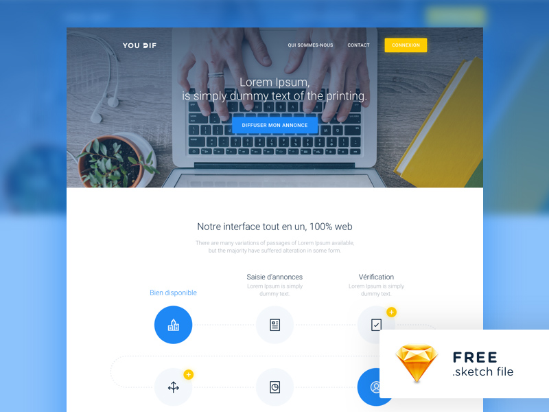 Modern website template freebie download sketch resource sketch repo modern website template maxwellsz