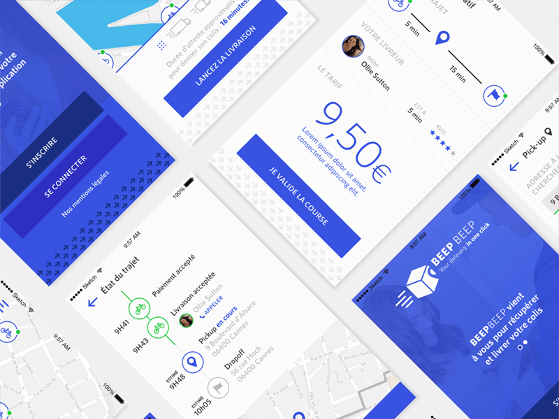 Flat UI Delivery App