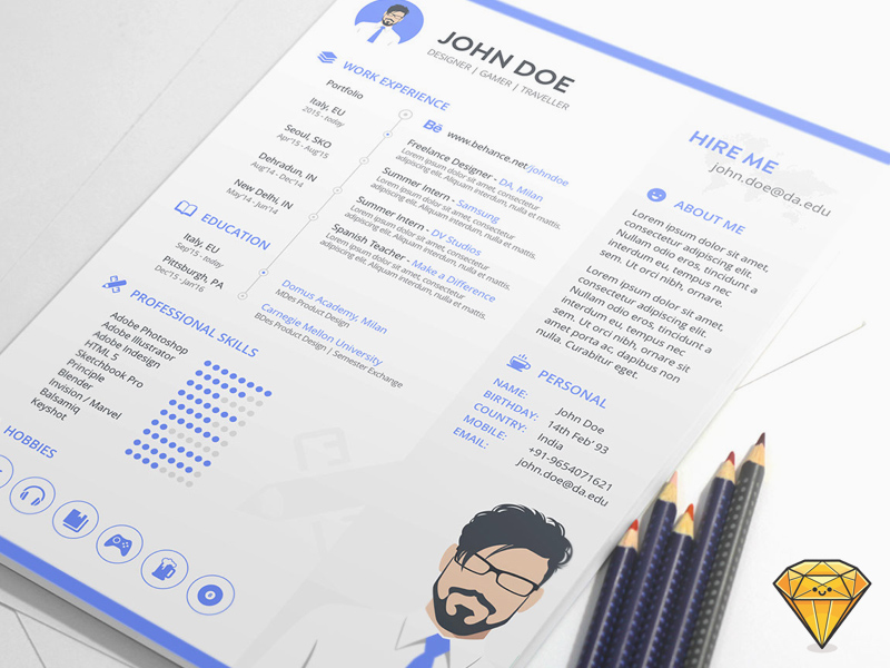 Resume template for sketch freebie download sketch resource resume template for sketch yelopaper Choice Image