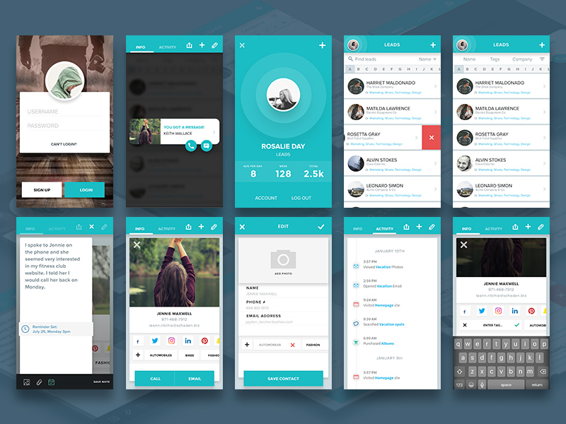 Contacts app concept freebie download sketch resource Best home design apps for android