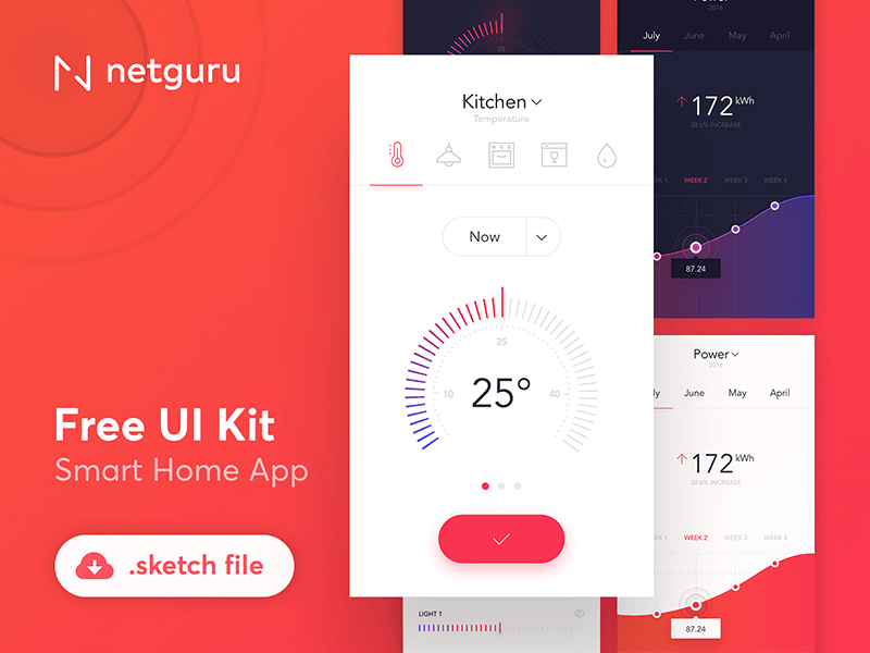 smart home app ui kit freebie download sketch resource. Black Bedroom Furniture Sets. Home Design Ideas