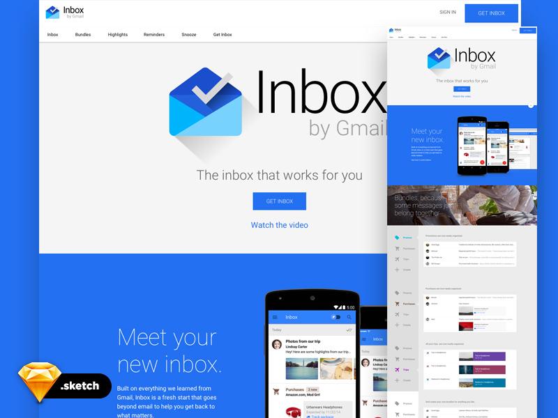 Google Inbox UI Freebie - Download Sketch Resource - Sketch Repo