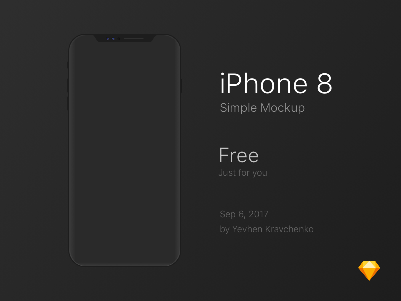 IPhone 8 Simple Mockup