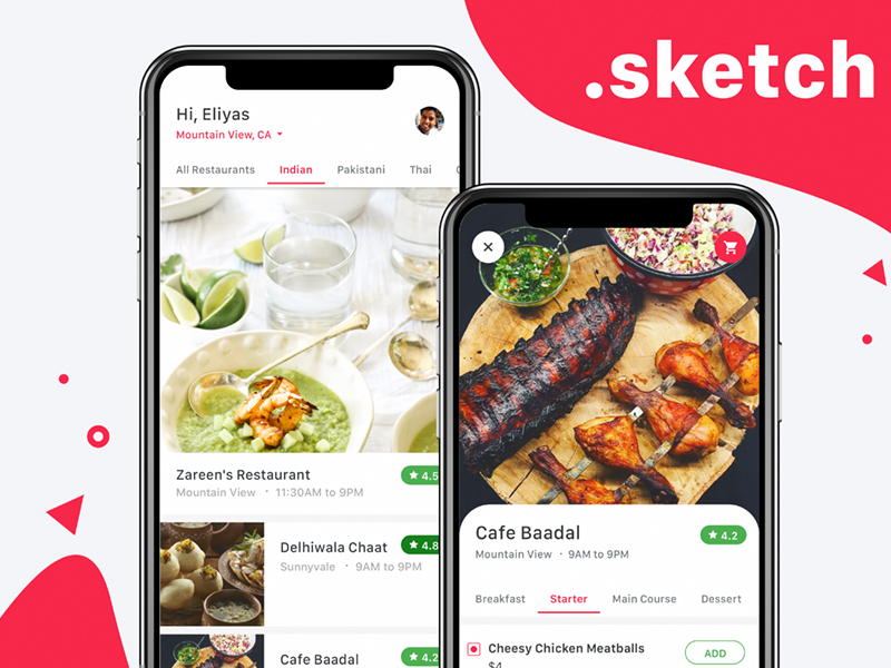 Food delivery app concept freebie download sketch resource food delivery app concept forumfinder Choice Image