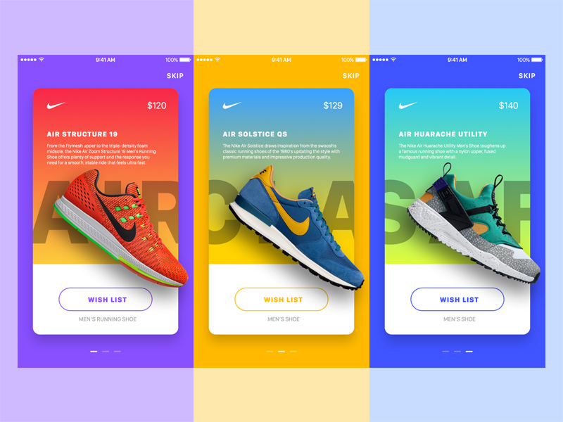 Nike Promotion Ads Parallax Effect Freebie Download