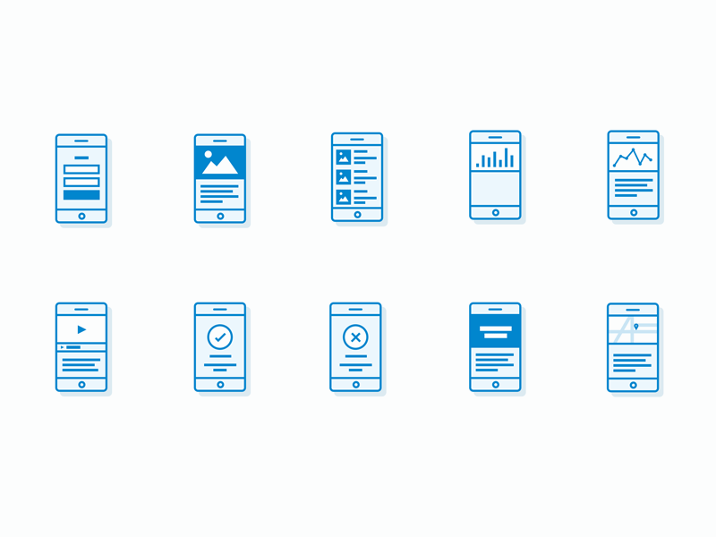 Mobile App Flowchart Icons Freebie Download Sketch Resource