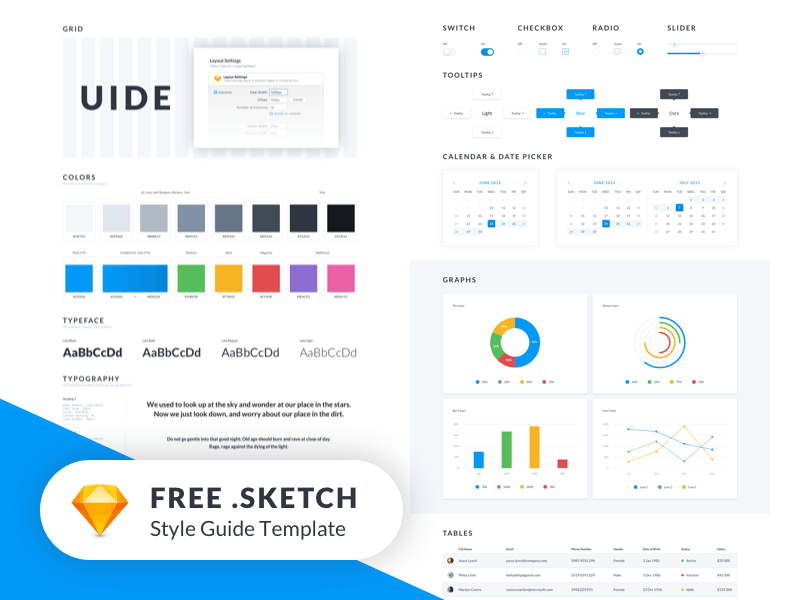uide kit sketch style guide template freebie download sketch